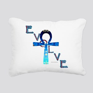 Evolve Ankh Rectangular Canvas Pillow